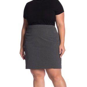 Halogen Ela Charcoal Suit Skirt (Plus Size)